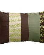 Kaleidoscope Green Leaf Cushion